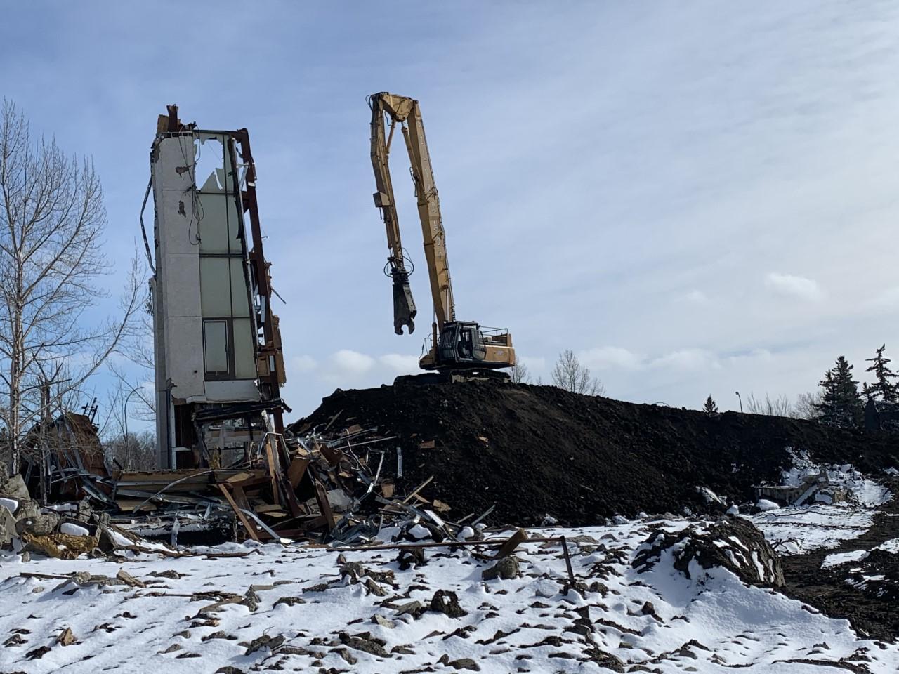Orr Centre Demolition Regina, SK