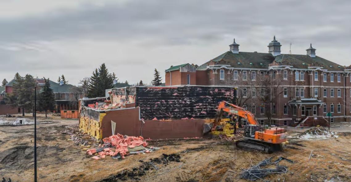 Old Saskatchewan Hospital Project, Gymnasium Demolition- North Battleford, SK